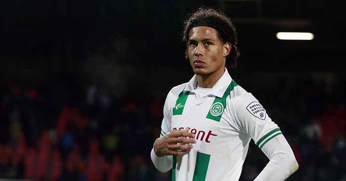 Virgil van Dijk di klub FC Groningen.