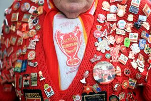 Liverpool badges on scarf