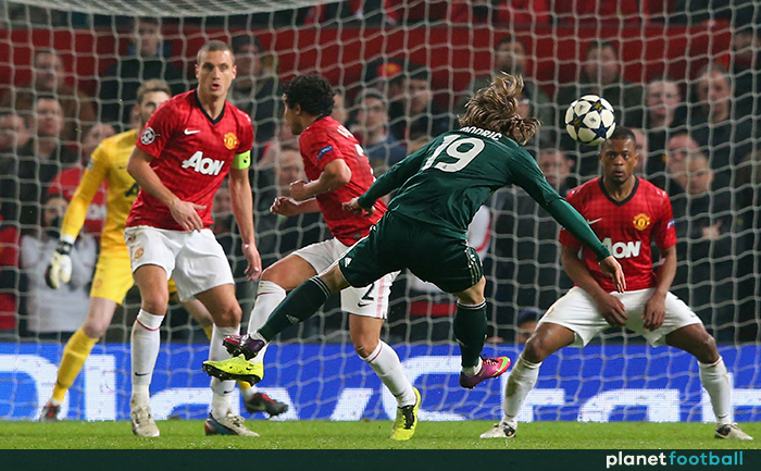 b57dbe118 Luka Modric goal Manchester United Real Madrid 2013 - Planet Football