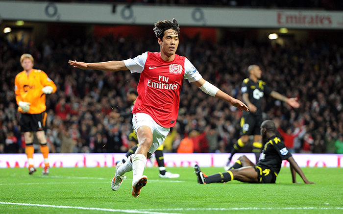 Резултат с изображение за park chu young arsenal