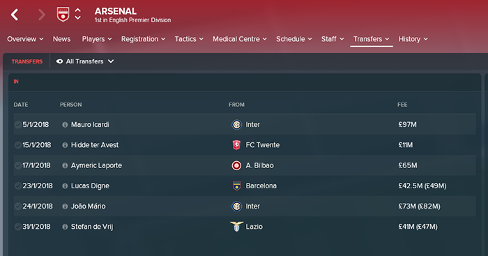 FM18 simulates what would happen if Arsene Wenger got £371m like Pep