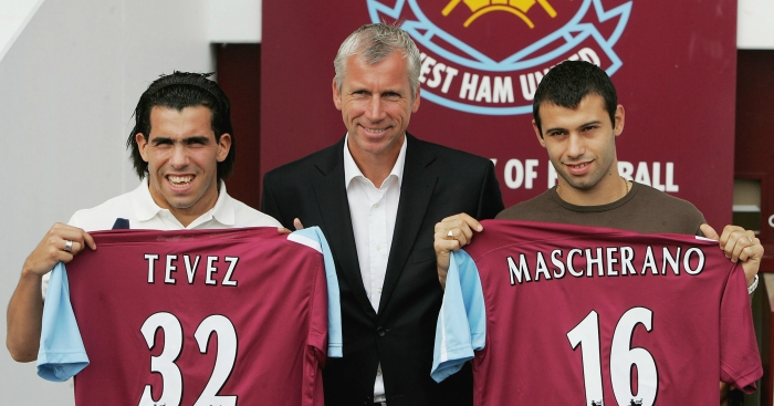 Image result for tevez mascherano west ham