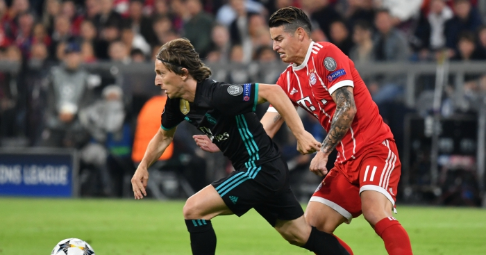 5d370720145 Comparing James Rodriguez s 2017-18 stats to Real Madrid midfielders ...