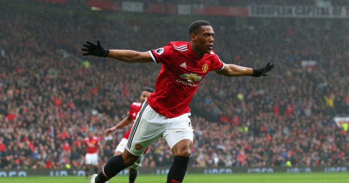 Comparing Anthony Martial S 2017 18 Stats To Man Utd S Other