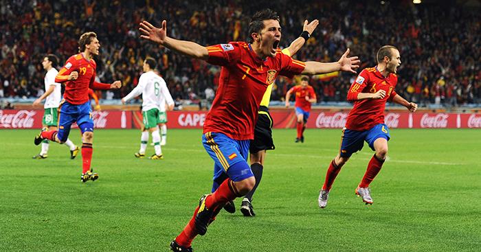 David Villa Spain Portugal goal World Cup 2010