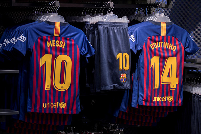 big sale d55e0 2a85a The ultimate marginal gain? Barca's shirt numbers 'improve ...