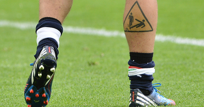 17 Of Football S Most Ridiculous Tattoos Icardi Materazzi Wenger