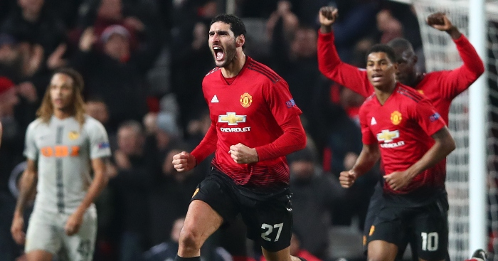 nine of marouane fellaini s most crucial goals for manchester united