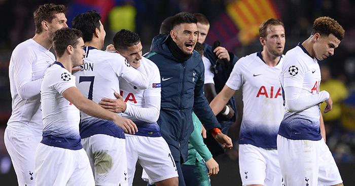 Watch  Tottenham fans and players react to news of Inter draw - Planet  Football 03d6eeeb6
