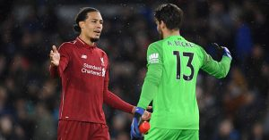 Virgil van Dijk Alisson Liverpool Brighton