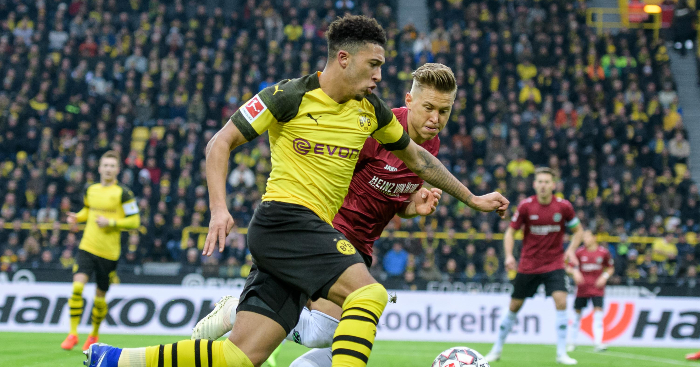 d125ac477e107 Watch  Jadon Sancho provides yet more assists in thrashing for Dortmund -  Planet Football