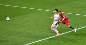 Ricardo Quaresma scores trivela for Portugal against Iran