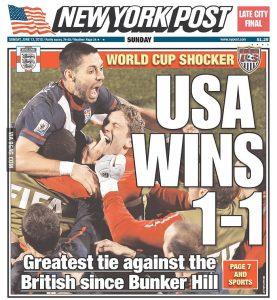 USA wins 1-1 New York Post