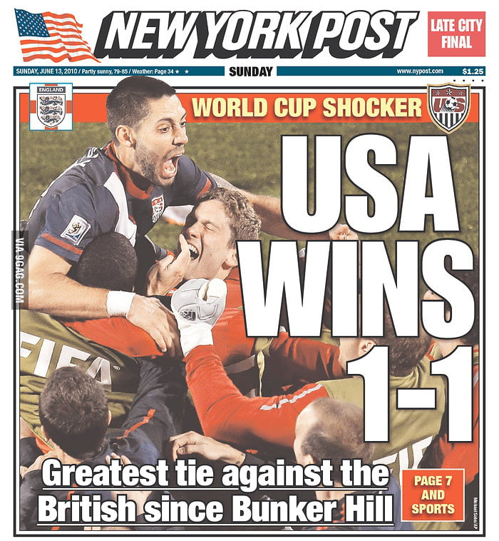 USA wins 1-1 New York Post