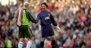 Peter-Schmeichel-David-Seaman-Manchester-United-Arsenal