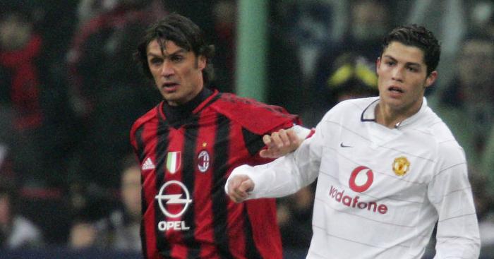 Paolo-Maldini-Cristiano-Ronaldo-AC-Milan-Manchester-United