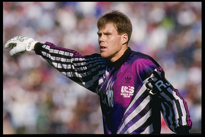 Brad Friedel pictured playing for USA in 1990