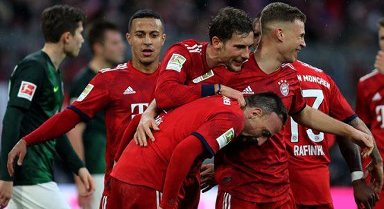 Franck Ribery, Leon Goretzka, Joshua Kimmich, FC Bayern, Munich