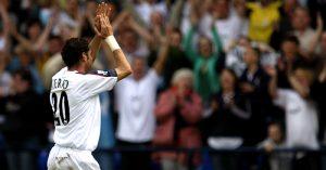 Bolton Wanderers' Fernando Hierro acknowledges the crowd