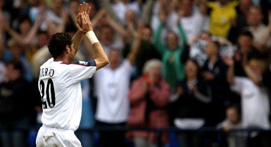 Bolton Wanderers' Fernando Hierro acknowledges the crowd