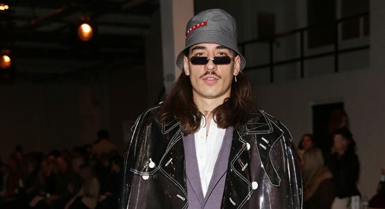 Hector Bellerin during London Fashion Week