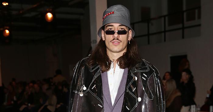 Hector Bellerin during London Fashion Week
