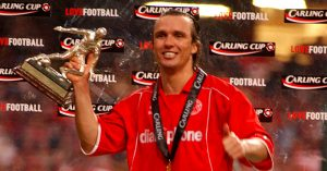 Middlesbrough's Boudewijn Zenden celebrates Carling Cup Final victory
