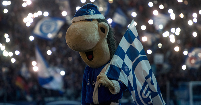 Schalke mascot Erwin at Christmas