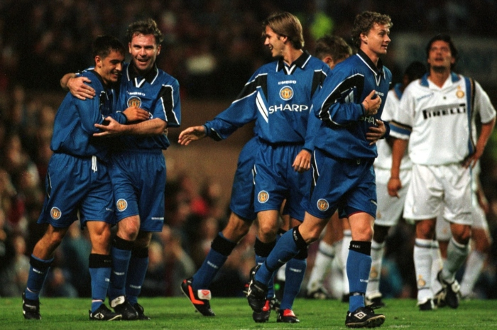Michael-Clegg-Brian-McClair-David-Beckham-Ole-Gunnar-Solskjaer-Manchester-United