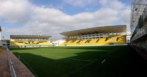 Stadionul Sheriff in Tiraspol, Transistria.