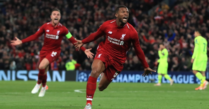 Watch: Gini Wijnaldum fools two Barca players with excellent piece ...