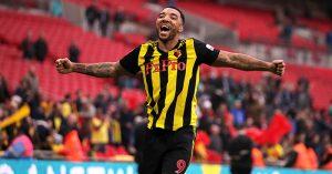 Troy Deeney celebrates Watford's FA Cup semi-final win