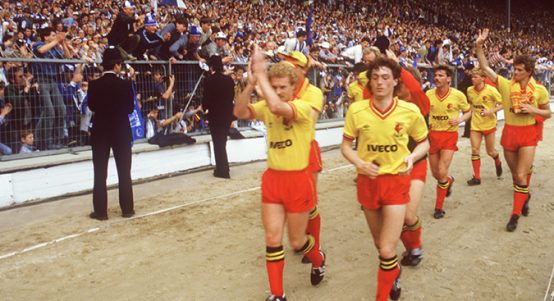 Watford, beaten FA Cup finalists, 1984