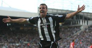 Steven Taylor celebrates scoring goal for Newcastle United