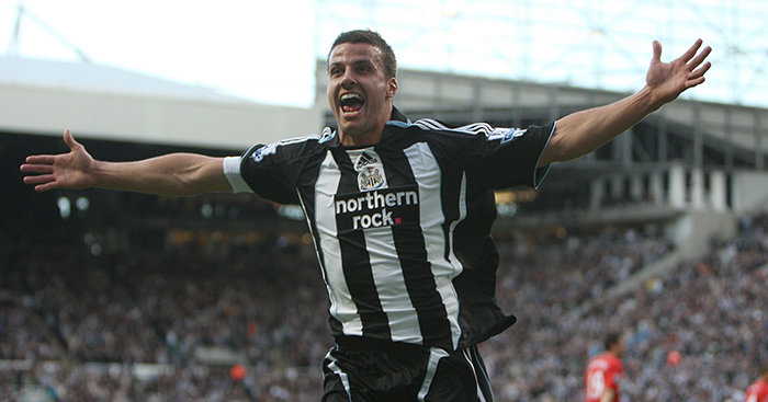 Steven Taylor celebrates scoring goal for Newcastle United