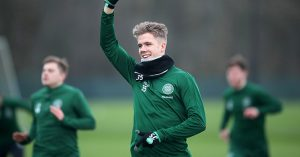 Kristoffer Ajer in Celtic training