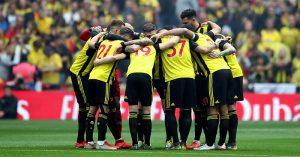 Watford huddle, FA Cup final