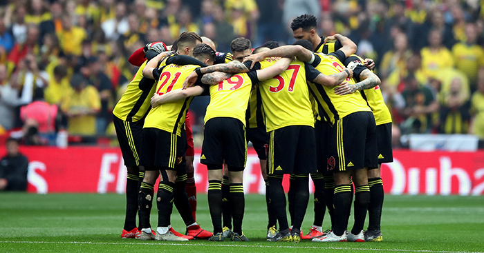 Watford huddle, FA Cup final