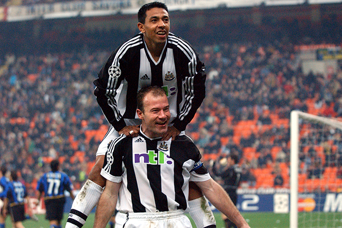 Alan Shearer and Nolberto Solano