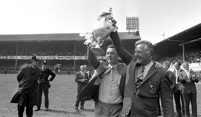 Brian Clough and Peter Taylor at Derby