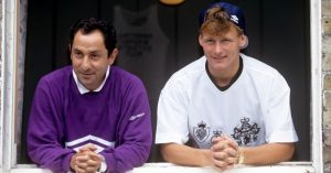 Ossie Ardilles and Teddy Sheringham