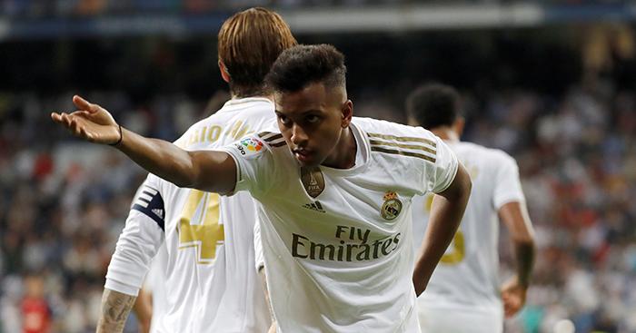 Rodrygo celebrates goal