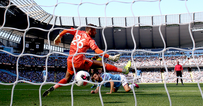 Ben Foster concedes a goal