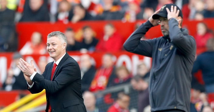Image result for klopp and solskjaer