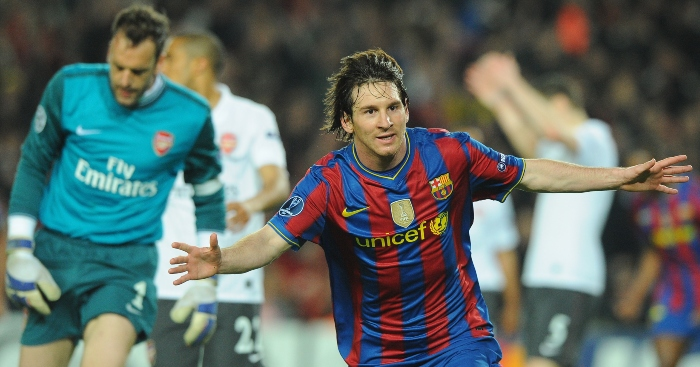 A forensic analysis of Lionel Messi's amazing 2010 performance v Arsenal - Planet Football