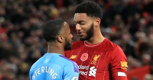 Joe Gomez and Raheem Sterling