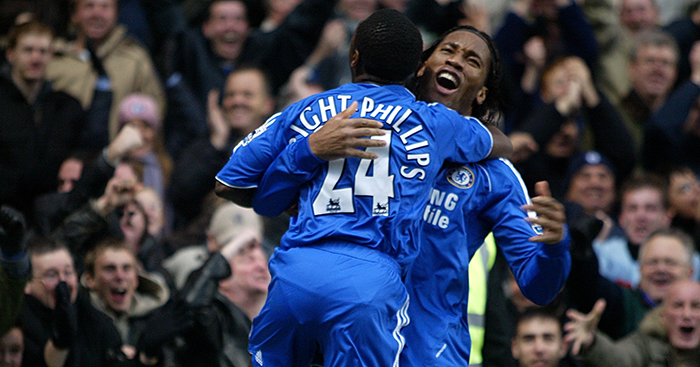 Shaun Wright-Phillips and Didier Drogba