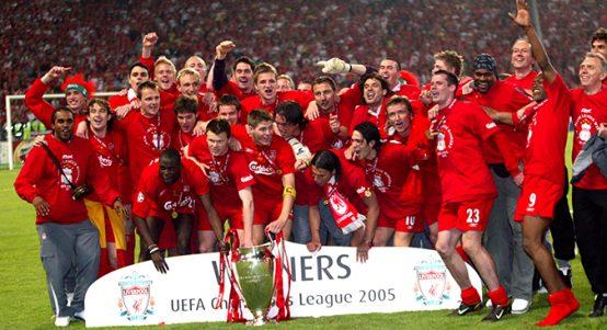 Liverpool celebrate, 2005