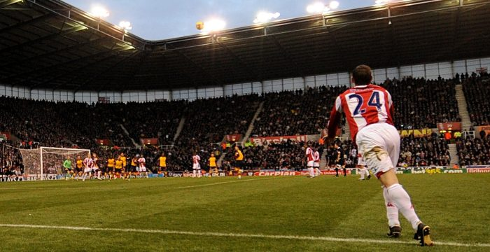 Rory Delap takes a throw-in
