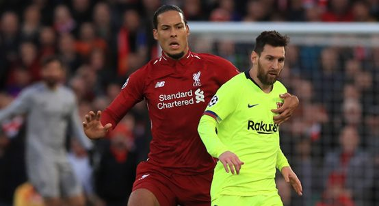 Virgil van Dijk and Lionel Messi